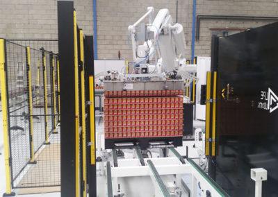 Célula robotizada en producción