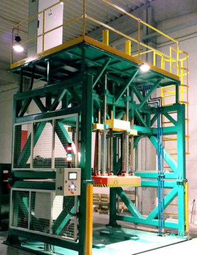 Prensas verticales hidráulicas. Desarrollo