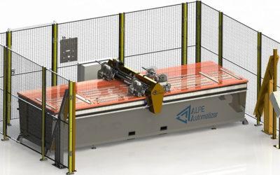 Mesa de aplicación de cinta adhesiva automática