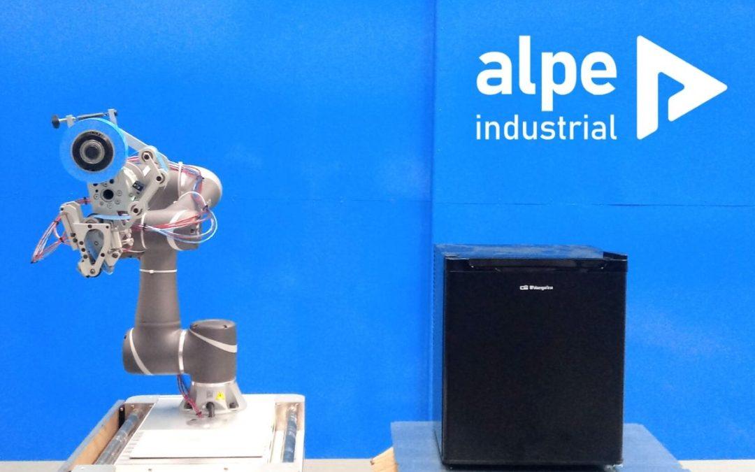 Aplicación de cinta con robot colaborativo